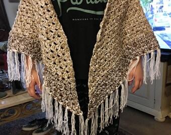 Handmade Victorian prayer shaw