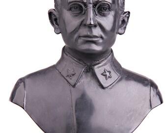 Russian Soviet USSR KGB / NKVD Leader Lavrentiy Beria Stone Bust / Statue 15cm (5.9'') black