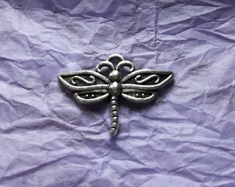 3 Dragon Fly Charms for Jewellery Making or other Crafts 3 x Tibetan Silver Dragon Fly Charms