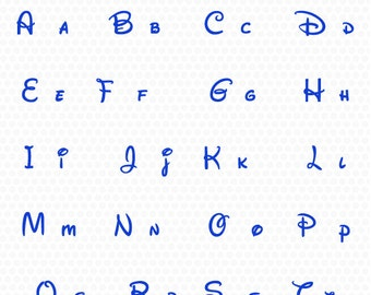 Disney Alphabet Svg, Disney Font Svg,Disney Monogram Svg - Eps, Dxf, Png-use with Cricut & Silhouette-Disney svg.
