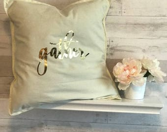 throw pillow cover-gather