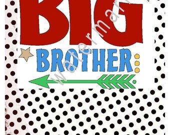 Big brother Little brother svg - brother's shirts - silhouette cameo cricut - brother svg T shirt Big brother transfer Little brother