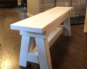 """Farmhouse Bench - """"A"""" Style (Local Pickup Only)"""