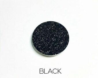 Pressed Glitter Eyeshadow - 'Black'