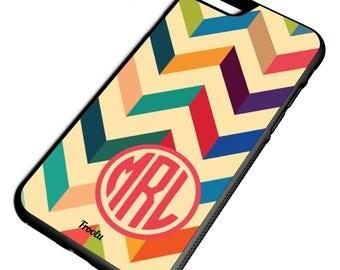 iPhone 7 Cases - 7 Plus Chevron Case - Best iPhone 7 Case - iPhone 6S Case - Rubber iPhone Case - Custom iPhone 7 Case - Personalized Cases