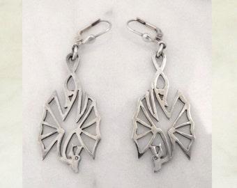 """Silver earrings """"flying dragon"""""""