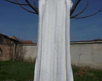 White Woven Dress