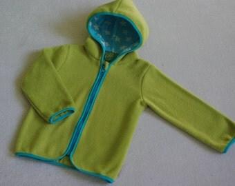 Baby/ Toddler Fleece Jacket green/ turquoise
