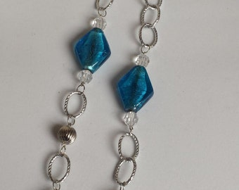Blue chain necklace