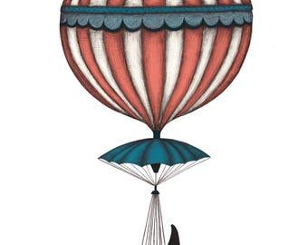Orca Balloon - Giclée (fine art) print