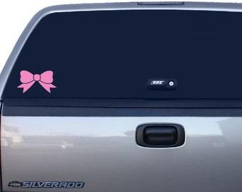 Bow Car Decal, Bow Decal, Bow Sticker, Yeti Cup Decal, Car Window Decal, Laptop Decal, Macbook Decal, PhoneDecal, Ipad Decal. bumper Sticker