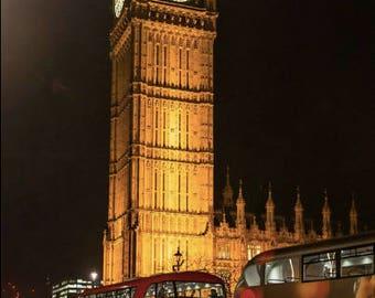 Big Ben Lights up the Night