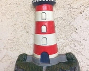 Vintage Cast Iron Lighthouse Lighthouse Door Stop Nautical Decor Lighthouse Baby Nursery & Lighthouse doorstop | Etsy Pezcame.Com