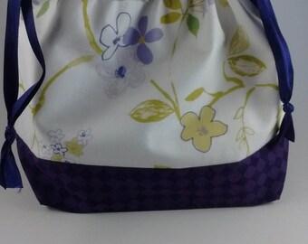 Violets project bag