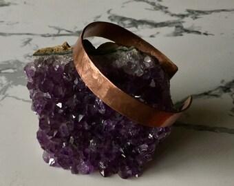 Small cuff bracelet, copper or brass