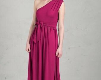 Long Bridesmaid Dress - Linnea, Blackberry