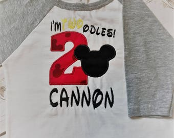 Mickey Mouse Shirt Boys Mickey Mouse Birthday shirt Boys Second Birthday shirt Oh Twoodles Birthday Shirt I'm 2 Mickey Birthday Shirt