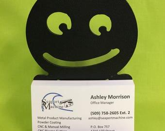 Smile Desktop Business Card Holder