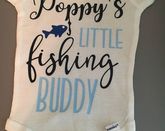 Daddy's little fishing buddy, daddy's fishing buddy, fishing buddy, baby fishing, poppy's little fishing buddy, poppy's fishing buddy