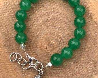 Heart Chakra Bracelet    Chakra Bracelet    Boho Bracelet    Green Aventurine Bracelet