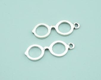10pcs 11x31mm Antique Silver Sunglasses Charm Pendants Z1521