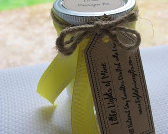 All Natural Soy Candles: Lemon Meringue