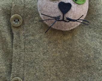 Curious Cat Brooch