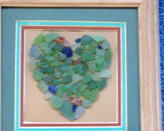 A heart for my love: sea glass art