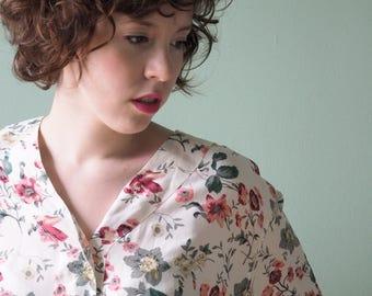 Romantic silk blouse