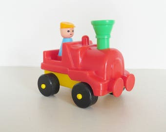 Locomotive toys, Clairbois locomotive, Engine made in france, vintage toy, christmas present, vintage locomotive, child gift
