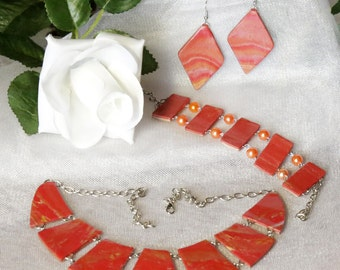 Jewelry Set.  3 Piece Set: Necklace , Bracelet and Earrings.