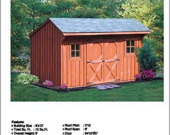 8 39 x 8 39 firewood storage shed plans saltbox style for Saltbox garden shed plans