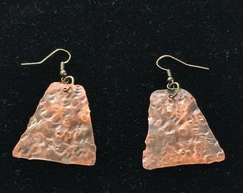 Bold copper earring