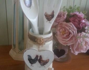 Emma Bridgewater theme decoupage jar, decorative display