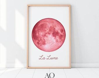 Moon Wall Art moon phases wall art | etsy