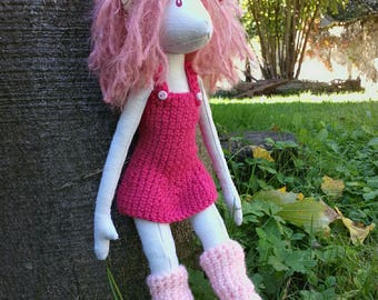 Elf Woods rag doll pink