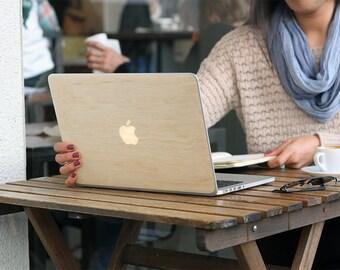 Real Wood Birch Laptop Computer Skin / Macbook Skin / Wood Laptop Cover / Wood Laptop Case / Macbook Skin / Wood Laptop Skin / Macbook Case