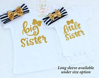 Matching Sister Outfits, Big Sister Little Sister Outfits, Big Sister Outfit, Little Sister Outfit, Big Sister Shirt, Sibling Outfits, FS22