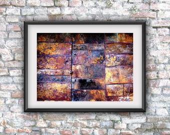Rusty door photography, abstract art, digital art, printable art, digital photo, digital download, instant download, home decor, wall decor