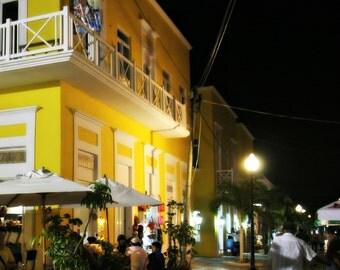 Plaza at Night, Cozumel