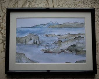 Glengorm Skerries- Watercolour