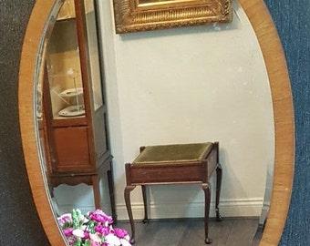 Classic Post War Wood Framed Mirror