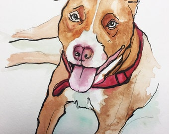 Commissioned Dog Portrait