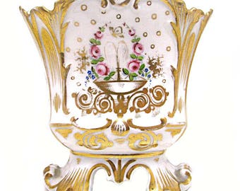 WEDDING VASE porcelain Paris, beginning of the 19 th century