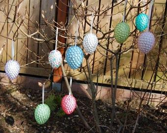 Easter eggs set / beads balls