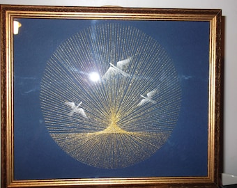 Jonathan Livingston Seagull embroidery picture card