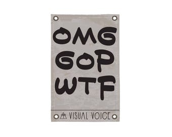 OMG Canvas Sign