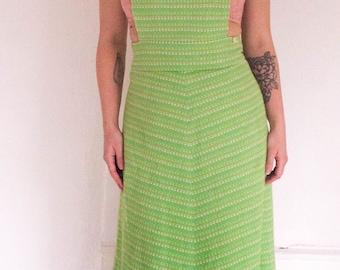 Vintage Apron Maxi Dress