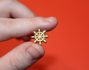 Wooden Ship's Wheel Charm