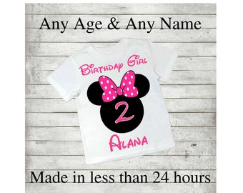 Minnie Mouse Birthday, 1st, 2nd, 3rd, 4th, 6th, 7th, 8th, Personalised, Printable Iron On Transfer, Decal, JPEG, Digital, Disney, T shirt